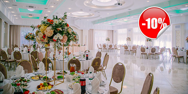 """Discount for a banquet in the hotel-restaurant complex """"Sofievsky Posad""""!"""